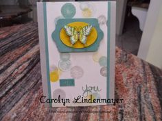 Carolyn's Card Creations: Moonlight Papillon Card