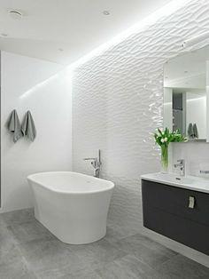 carrelage interieur, enduit blanc avec relief