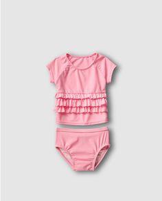 Bañador de bebé niña Gap en rosa dos piezas