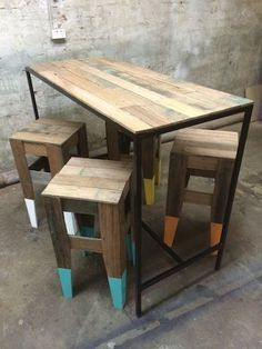 RecycLED TIMBER BAR TABLE | Tables | Gumtree Australia Inner Sydney - Alexandria | 1041899234