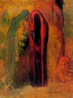 Odilon Redon ~ Two veiled personages