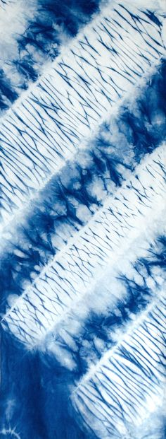 Arashi Shibori cotton by Carlyn Clark