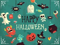 Halloween Vector Art Pack Freebie by Pixeden