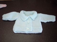 Chunky knit first size baby jacket