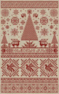 Scandinavian Christmas Sampler  Instant Download PDF by modernfolk, $9.00