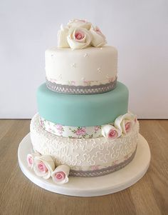 Wedding Cakes - The Cakery Leamington Cupcake Icing, Cupcake Cakes, Mom Dad Anniversary, Anniversary Ideas, Bolo Laura, Butter Icing, Floral Ribbon, Wedding Cakes With Flowers, Celebration Cakes