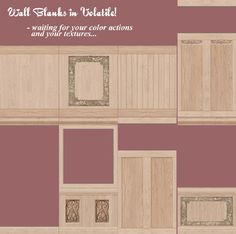 "RESOURCE: Wood Wall ""Blanks"""