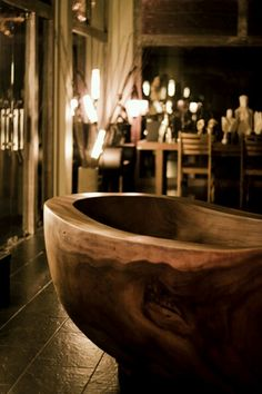 If you put wooden bathtub in your bathroom you will get warm and cozy atmosphere. White bathtubs can look very plastic and cold. That is why wooden bathtubs can be perfect for any home.