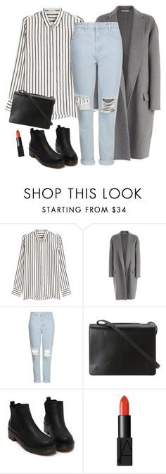 """Noora Skam 2"" by vickiprevi ❤ liked on Polyvore featuring Brunello Cucinelli, CÉLINE, Topshop, BCBGMAXAZRIA and NARS Cosmetics"
