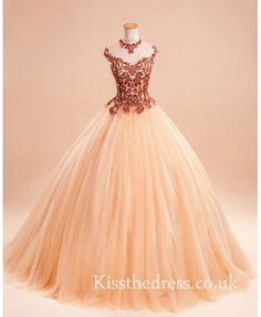Vintage Champagne Gown