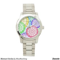 Abstract Circles Wrist Watch