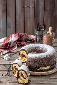 Ciambella pan brioche vaniglia e cacao – Impastando a quattro mani Mini Desserts, Plated Desserts, Sweet Recipes, Cake Recipes, Dessert Recipes, Beignets, Cupcakes, Cupcake Cakes, Best Apple Pie