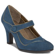 Art Deco Blue Shoe