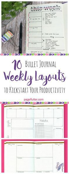 Weekly Bullet Journal Layouts | pageflutter.com