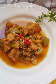 Pan-fried Pork with Leek (Prasotigania), Pan-fried Pork with Leek Recipes, Leek Recipes, Greek Cooking, Fried Pork, Pot Roast, Fries, Ethnic Recipes, Food, Carne Asada, Roast Beef