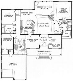 3 Bed House Plan with Classic 4-Columned Porch - 59530ND | 1st Floor Master Suite, Bonus Room, CAD Available, Den-Office-Library-Study, PDF, Southern, Split Bedrooms | Architectural Designs