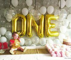 Jumbo 34 Gold Mylar Letter Balloons Spell by ShopCelebrationLane