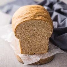 This is my family's go-to bread, soft, moist, pillowy, and made with 100% whole grain wheat. So good on sandwiches! #honey #recipe #whole #sandwich #healthy #breakfast #easy #homemade #machine #whattodo #frenchtoast #vegan #soft #best #snacks #amish #artisan #meals #quick #video #butter #baking #awesome #bakingamoment