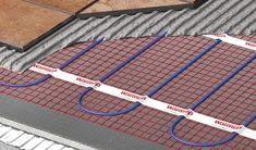 Warmup electric heated floor mat features a thin wire taped to a fiberglass mesh with pressure sensitive adhesive for a fast and secure installation.
