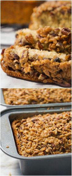 This Toffee Pecan Crunch Banana Bread is an easy banana bread recipe using butter pecan cake mix. Topped with pecans and toffee bits for a crunchy crust. Cake Mix Banana Bread, Easy Banana Bread, Banana Bread Recipes, Quick Bread, Banana Bread With Pecans, Pecan Bread Recipe, Pecan Recipes, Muffin Recipes, Cake Mix Recipes