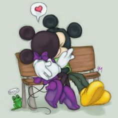 Xoxo. awe, Mickey and Minnie.