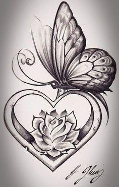 Feather Tattoo Designs: Feminine butterfly tattoos idea