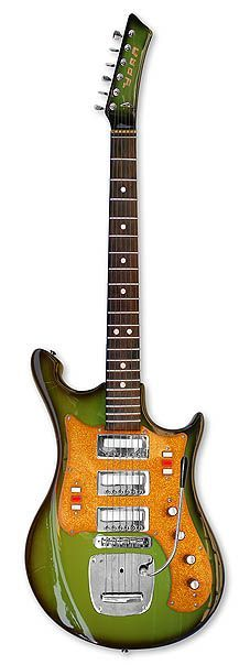 Ural 650A Art. 422 Guitar made in the Soviet Union 1975-1977. Seriously ugly but certainly original. #music