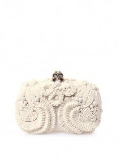 37883c01f6111 To know more about ALEXANDER MCQUEEN Glory skull flower clutch