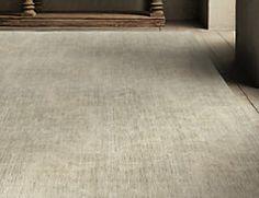 flatweave pinstripe wool rug - ivory/blue | ben soleimani for rh