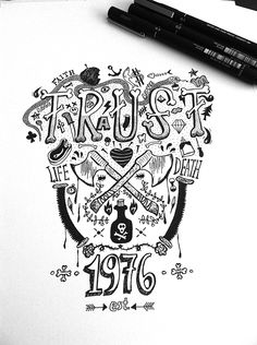 Handmade poster design about TRUST