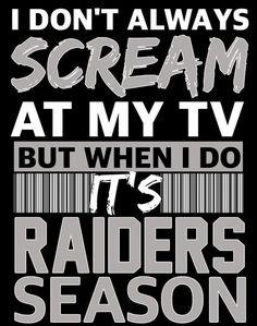 Funny Football Pictures, Raiders Tattoos, Raiders Cheerleaders, Raiders Wallpaper, Raiders Stuff, Oakland Raiders Football, Football Memes, Raider Nation, Say More