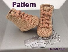 Crochet Pattern, Military booties Pattern, work boots pattern, Booties pattern,combat boots, combat booties, toddler shoes, baby booties on Etsy, $5.00