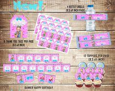 JOJO SIWA KIT Printable, Jojo Siwa Party Birthday, Jojo Siwa Banner, Jojo Siwa Water Labels, Jojo Siwa Cupcake Toppers, Jojo Thank you Tags