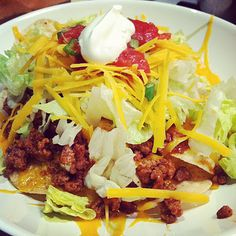 Taco Salad ~ would leave off the onions...
