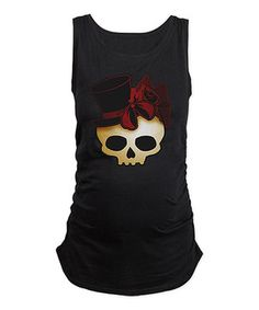 Love this Black Fancy Skull Maternity Tank - Women by CafePress on #zulily! #zulilyfinds