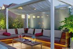 Image result for outside entertainment area ideas