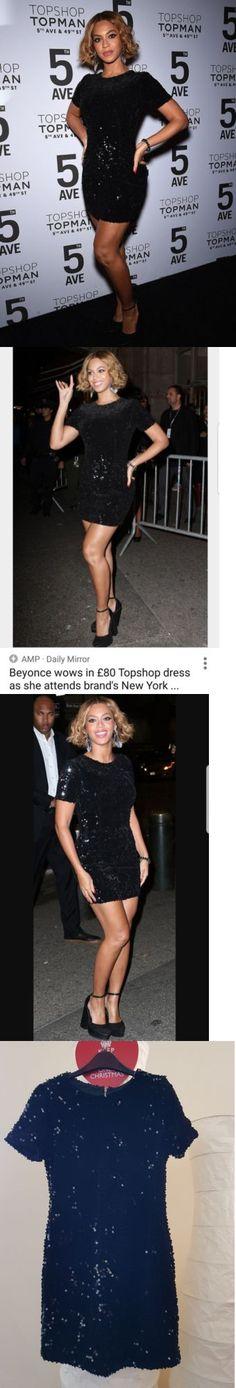 Beyonce Dresses: £89 Topshop Beyonce Lbd Black Velvet Flock Sequin Mini Shift Dress Uk 6 8 -> BUY IT NOW ONLY: $25 on eBay!