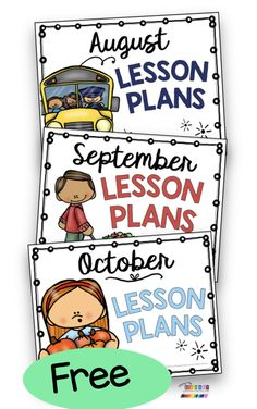 FREE SIMPLE KINDERGARTEN organizational posters back to school beginning the new year