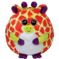 TY Beanie Ballz - TOBY the Giraffe (Regular Size - 5 inch). Big Eyed AnimalsBig  Eyed Stuffed AnimalsTy ... d9bbf625a86c