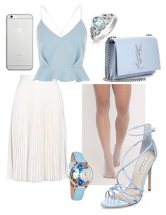 """""""Sem título #38"""" by tatiana-fraga on Polyvore featuring moda, MSGM, Whimsical Watches, Bling Jewelry, Steve Madden, River Island, Yves Saint Laurent e Native Union"""