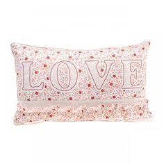 Floral Love Wording Cushion
