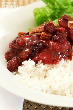This cranberry chicken is amazing! It really is. Plus, it's SO easy! You can prepare the chicken for baking in like 3 minutes tops.