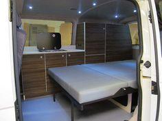 VW T5 Camper Conversion Rock'n'Roll bed