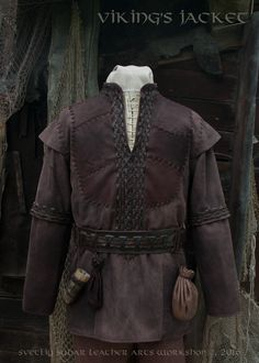 """We finished work on the jacket based on TV series """"Vikings"""". :) For a basis was taken the one of the Ragnar's jackets , however, the customer wanted to make some design changes (e.g., shoulders). :) So in the end we've got something new ... something that could be easily used as another costume for Ragnar :)"""