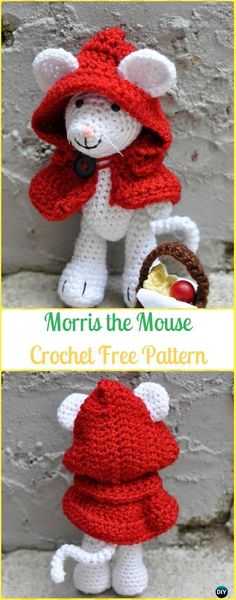 Crochet Morris the Mouse Amigurumi Free Pattern - Amigurumi Crochet Mouse Toy Softies Free Patterns