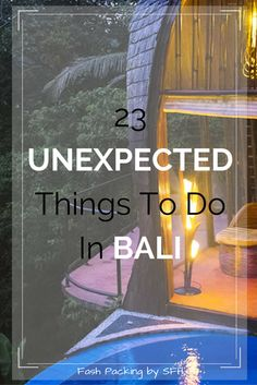 Think you know Bali? I bet I have some things on my list of 23 unexpected things to do you had never heard of. All the details here http://sydneyfashionhunter.com/2016/09/unexpected-things-bali.html