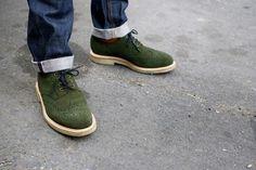 green suede = pure genius