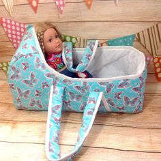 Baby Doll Basket Large American Doll Basket Baby Doll Carrier Baby Doll Bassinet Doll Reversible Doll Bassinet Carrier by PolyDollyGoods on Etsy Baby Doll Carrier, Mountain Nursery, Baby Bassinet, Large Baskets, Dollhouse Accessories, Play, Miniature Dolls, Baby Dolls, Bunny