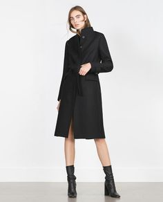Image 1 of HIGH COLLAR COAT from Zara
