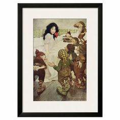 Dwarfs Discovering Snow White Framed Art Print...joss and main